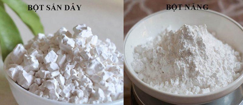 Hình ảnh phân biệt bột sắn dây và bột năng