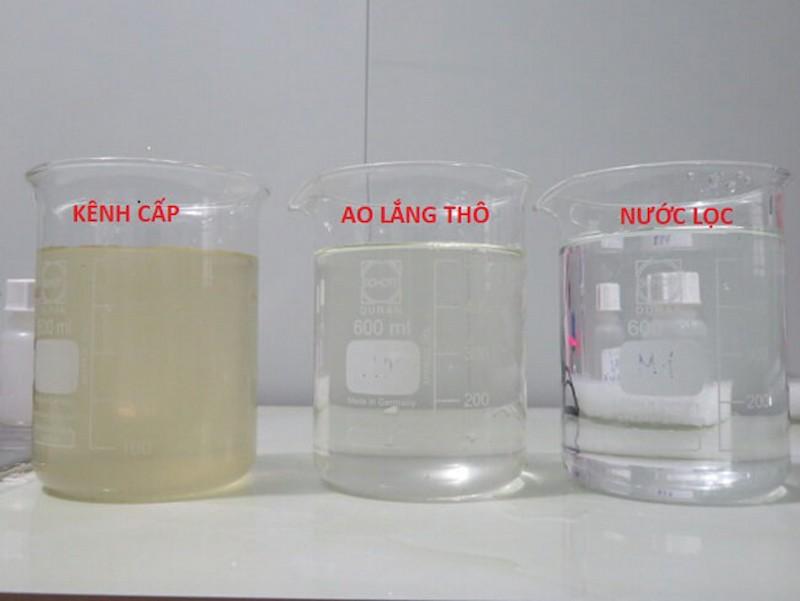 Hóa chất có tác dụng loại bỏ các cặn bẩn, chất hóa học ở trong nước