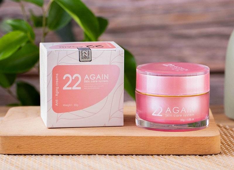 Kem chống lão hóa làn da 22 Again là sản phẩm được nhiều chị em tin dùng