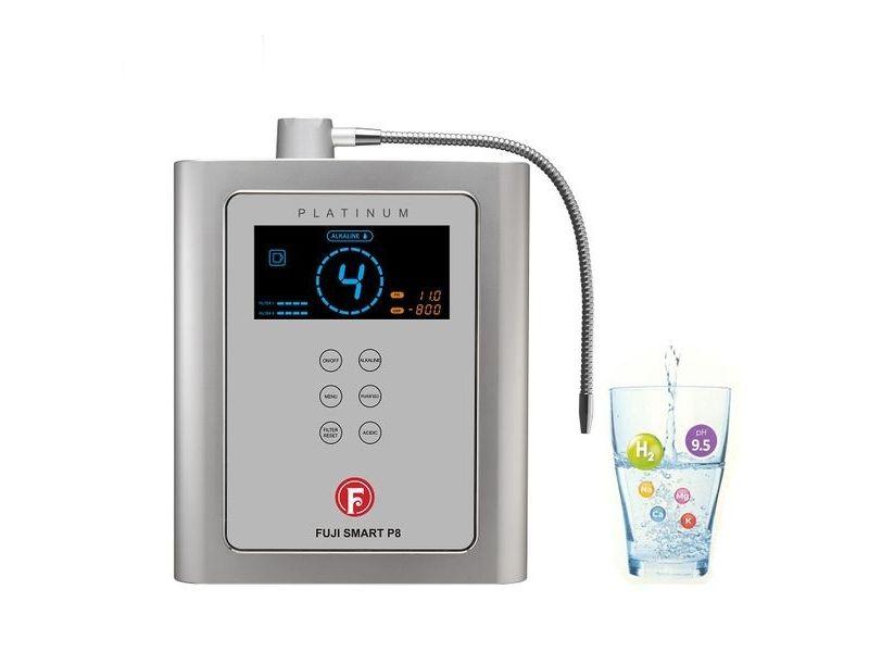 Máy lọc nước ion kiềm Fuji Smart P8 điện phân nước sâu hơn, tạo ra 8 chế độ nước khác nhau