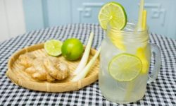 Nước uống giải rượu chanh sả gừng