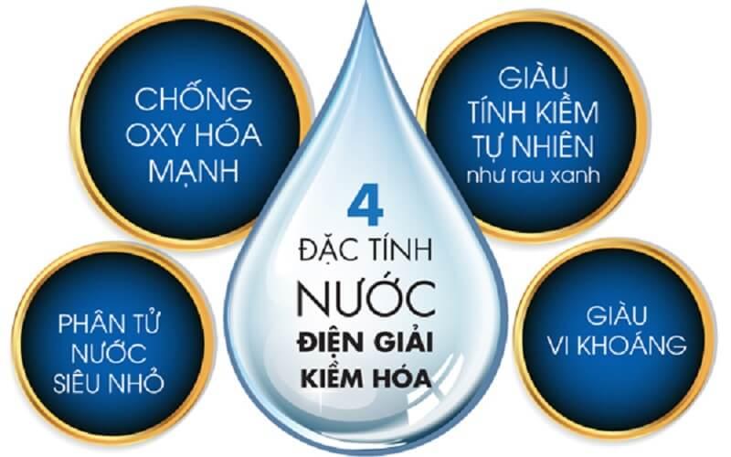 Nước ion kiềm sở hữu 4 đặc tính cơ bản