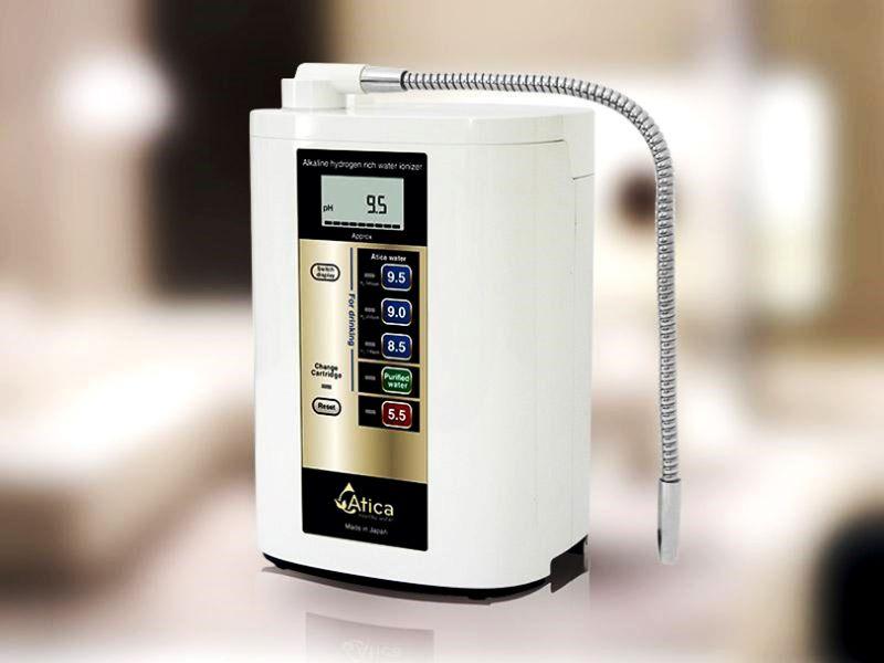Máy lọc nước Atica sử dụng công nghệ điện phân kép nên tạo ra nhiều hydro hòa tan trong nước