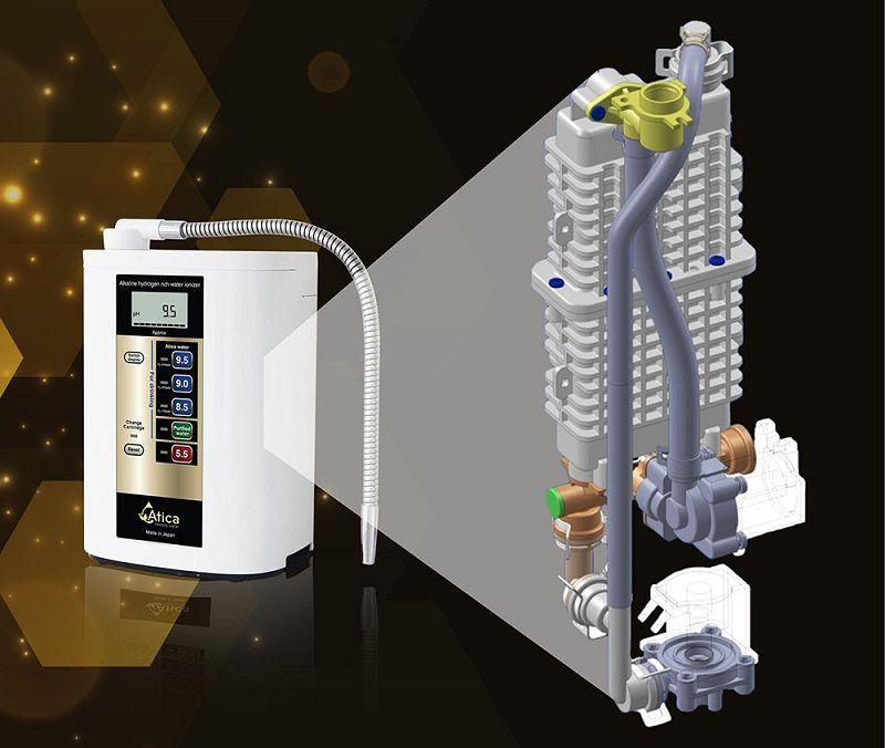 Máy lọc nước ion kiềm Atica Gold tạo được ấn tượng và tin tưởng với người dùng