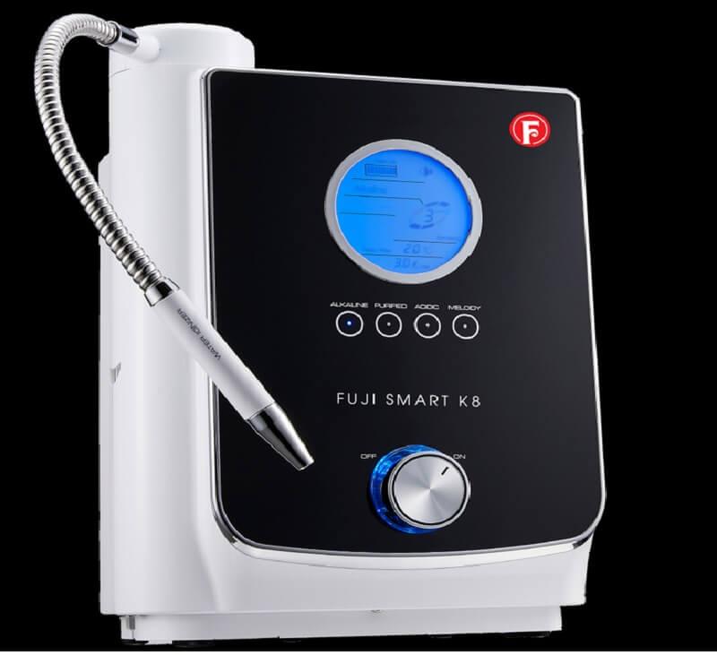 máy lọc nước ion kiềm Fuji Smart K8 thiết kế màu sắc trắng đen hiện đại và tinh tế