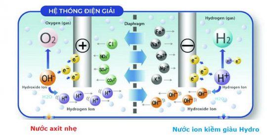 Nguyên lý máy lọc nước ion kiềm