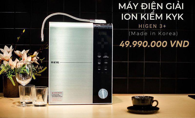 Một số nơi bán máy lọc nước điện giải KYK Hydrogen HYM 3+ khoảng 49.990.000 đồng