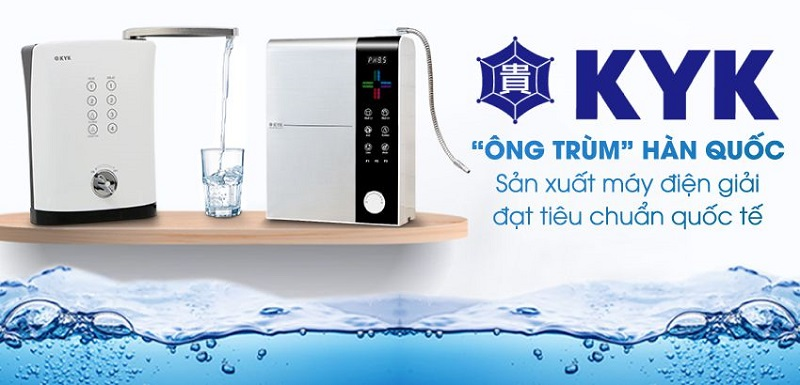 Giới thiệu máy lọc nước ion kiềm KYK Hydrogen HYM 3+